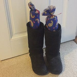Black tall UGGs! Barely worn!